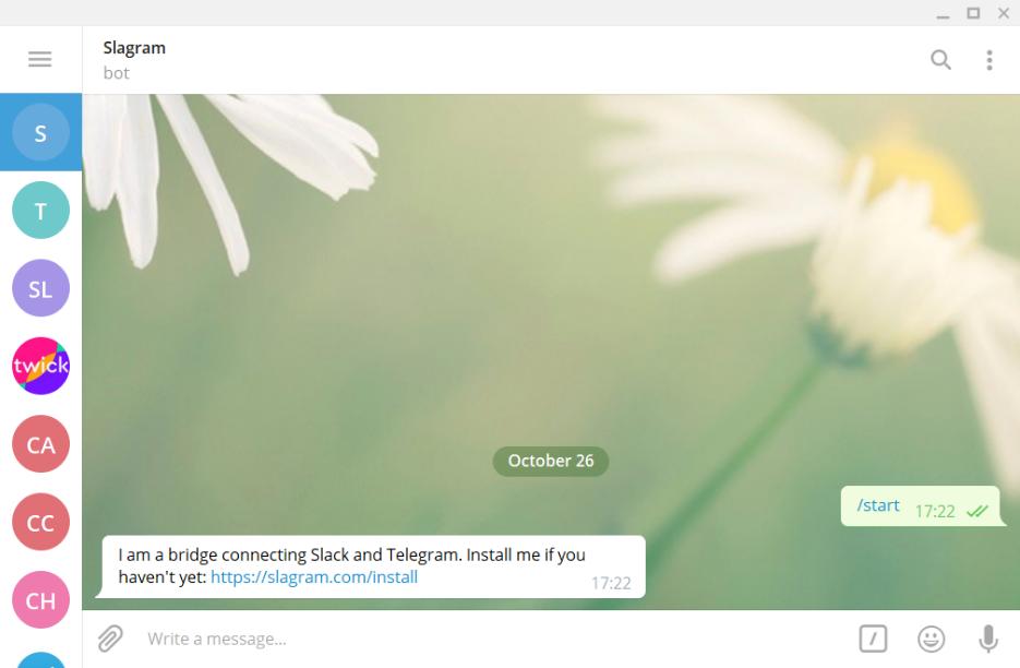 Slagram: Slack - Telegram bridge